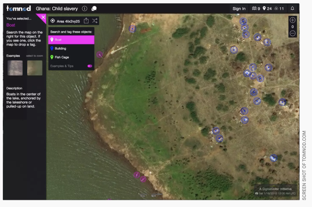A crowdsourced satellite image search helping to find child slaves in Ghana
