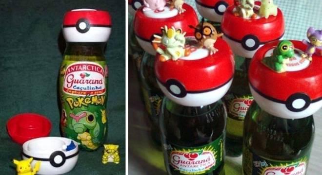 Pokémon toys sold with soda bottles